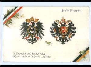 Y14092/ Wappen Deutschland Österreich 1. Weltkrieg AK 1916