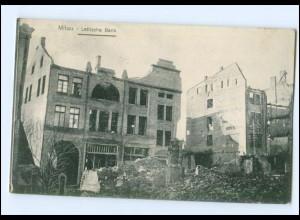 U8443/ Mitau Lettische Bank zerstört AK 1917 Lettland