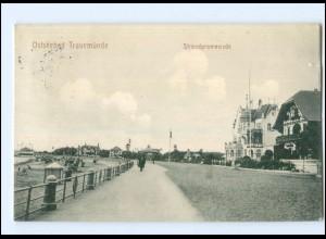 U8635/ Travemünde Strandpromenade 1912 AK