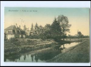 Y14095/ Bischweiler Partie an der Moder Elsaß AK 1915