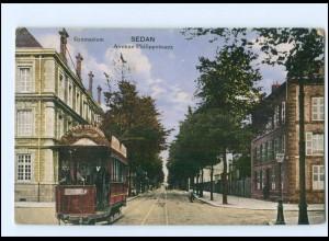 Y14316/ Sedan Ave. Philippoteaux Straßenbahn AK Frankreich 1916