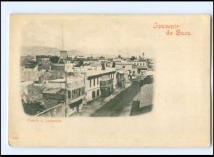 Y14093/ Souvenir de Suez Ägypten AK ca.1900