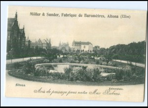U8427/ Hamburg Altona Kaiserplatz Möller & Sander Fabrique de Barometres AK 1900