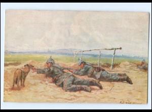 Y13825/ Hund bringt Munition 1. Weltkrieg AK Verlag: M. Schlesinger 1916
