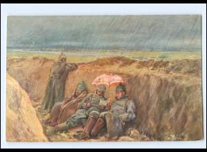 Y13822/ Im Schützengraben 1. Weltkrieg AK Verlag: M. Schlesinger 1916