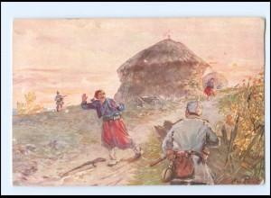 Y13821/ Im Kampf mit den Farbigen 1. Weltkrieg AK Verlag: M. Schlesinger