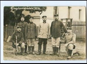 Y13820/ Kriegskameraden 1915 Soldaten mit Gewehr Foto AK