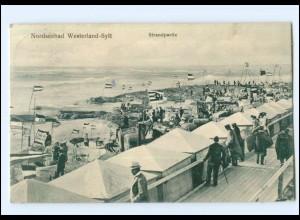 U8639/ Sylt Westerland Strandpartie 1912 AK