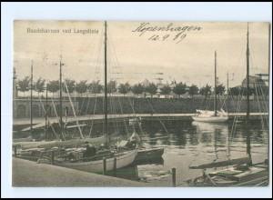 Y14043/ Baadehavnen ved Langelinie Dänemark AK 1909
