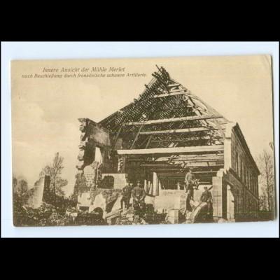 Y14041/ Mühle Merlet zerstört 1. Weltkrieg AK Frankreich 1916