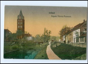 U8564-045./ Delitzsch Auguste Viktoria-Promenade 1919 AK