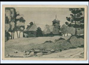 Y14306/ Kschtschawa Kirche Rußland 1. Weltkrieg AK 1917