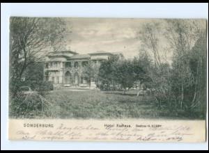 Y14081/ Sonderburg Hotel Kurhaus AK 1913 Nordschleswig