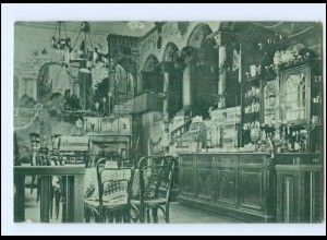 U8596/ Flensburg Café Blücher 1912 AK
