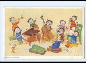 U8717/ Fritz Baumgarten Katzen-Orchester AK 1940