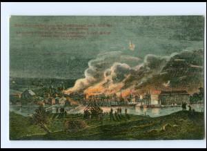 Y14163/ Feuer in Sonderburg 1864 Nordschleswig Litho AK 1913