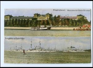 Y14166/ Friedrichsort Matrosen-Artillerie-Kaserne Marine Kriegsschiffe AK