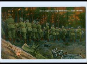 U8761/ Jäger-Abteilung beobachten den Feind 1. Weltkrieg AK 1916 Ratzeburg