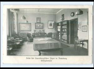U8757/ Ratzeburg Heim der Lauenburgischen Jäger Lesezimmer AK 1916
