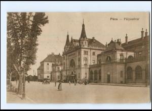 U8755/ Pecz - Palyaudvar Bahnhof AK 1917 Ungarn