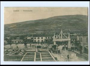 U8750/ Üsküb Skopje Bahnhofsplatz AK 1917 Mazedonien