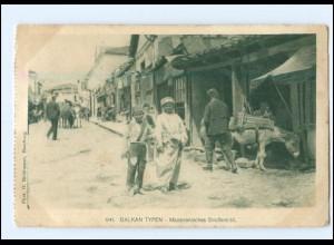 U8835/ Balkan-Typen Mazedonien Straßenbild AK 1917