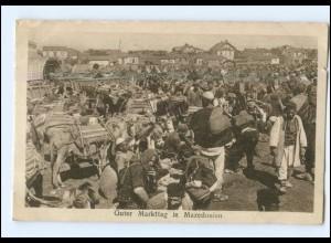 U8836/ Markttag in Mazedonien AK 1917