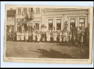 U8840/ Generalfeldmarschall v. Mackensen in Nisch 1916 Serbien WK1 AK