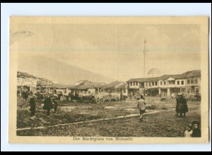 U8837/ Monastir Bitola Mazedonien Marktplatz AK 1917