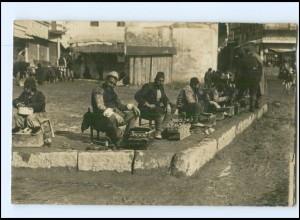 U8767/ Mazedonien Schuhputzer Foto AK 1917 1. Weltkrieg
