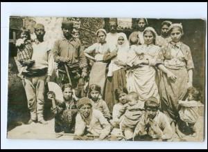 U8769/ Mazedonien Zigeuner Sinti Foto AK 1917 1. Weltkrieg