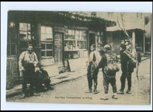 U8771/ Türkenviertel in Prilep Mazedonien AK 1917