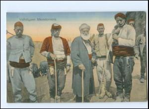 U8772/ Volkstypen aus Mazedonien AK 1917