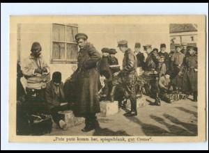 U8774/ Mazedonien Schuhputzer Soldaten AK 1917