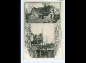 U8492-2201/ Kollmar Ebbe im Hafen 1908 AK