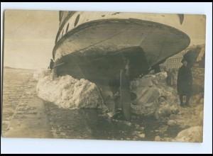 U8893/ Riga Lettland Winter Foto AK 1917