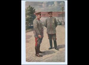 Y14038/ Kaiser Wilhelm + Hindenburg im Schloß zu Posen AK Rotes Kreuz 1917