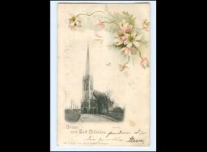 U8841/ Gruß aus Bad Oldesloe Kirche AK 1899