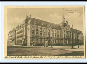 Y13945/ Karlsruhe Hauptpost 1915 AK