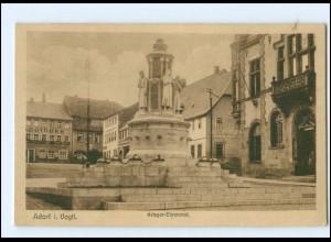 Y13936/ Adorf Krieger-Ehrenmal 1925 AK