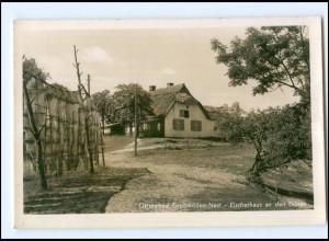 U8666/ Ostseebad Großmöllen-Nest Fischerhaus Foto AK Pommern ca.1940