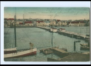 Y14005/ Sonderburg Pontonbrücke AK 1915 Nordschleswig