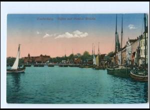 Y14004/ Sonderburg Hafen mit Ponton Brücke AK 1916