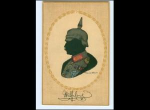 U8671/ Kaiser Wilhelm mit Pickelhaube schöne Litho AK Verlag: Dondorf ca.1914