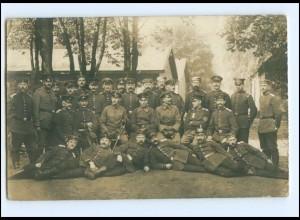Y13999/ Locksteder Lager Soldaten Foto AK 1917