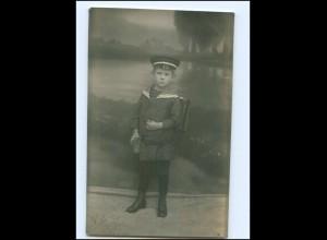 Y13980/ Schulkind Junge in Marine-Uniform Foto AK ca.1920