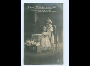 Y13997/ Junge in Uniform Kinder Puppe Foto AK 1916