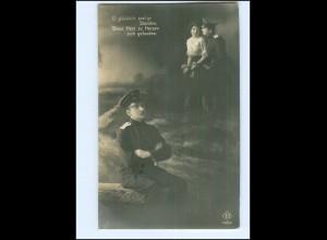 Y13994/ Soldat mit Frau Fotomontage Foto AK 1. Weltkrieg 1917