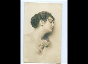 Y13996/ Junge Frau Haare Frisur Foto AK 1917
