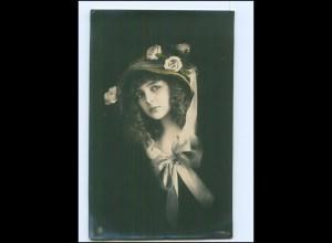 Y14011/ Junge Frau mit Hut schöne NPG Foto AK 1916